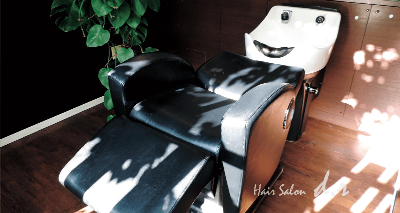越谷市の美容室d.rのシャワー台写真