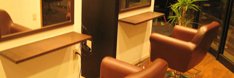 美容室d.rの店内